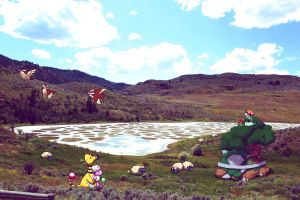 Wild pokemons by Spotted Lake by Ninja-Jamal