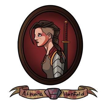 Athena Hanfeld - Dungeons and Dragons Character by AnthonyParenti