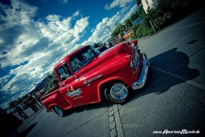 red classic truck by AmericanMuscle