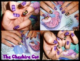 The Cheshire Cat nail art by Niquesse