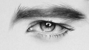 Robert Pattinson Eye Detail by IleanaHunter