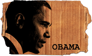 Obama Halftone Brushes by motion-suggests