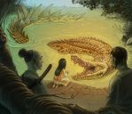 The Girl and the Crocodile King by Tikall