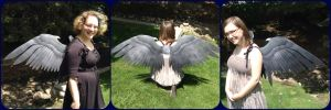 Child-sized Maleficent Wings by ThePinkPoudo