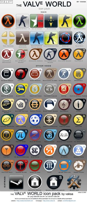 Icona Per Cs Me Shej Te Half-Life The_Valve_World_icon_pack_by_vaksa