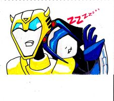 eek theirs a decepticon asleep on me by kalascee