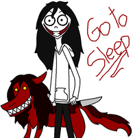 Jeff the killer and Smile dog by Arlinefans