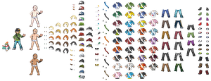 Pokemon X/Y Boy customisation sprite by Drawnamu