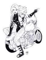 Black Canary - lineart by ArtisticPhun