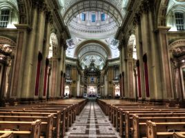 Inside the Mary, Queen of the World Cathedral by Kitteh-Pawz