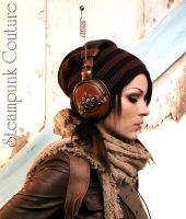 Steampunk headphones by ByKato