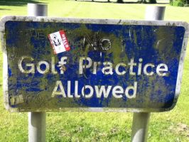 'No' Golf Practise 2 by Osi616