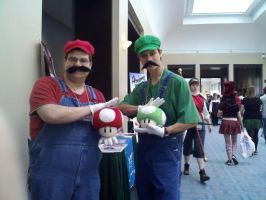 Mario and Luigi by Kishiwa