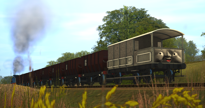 Empty Ballast Hoppers for Arlesburgh by Nictrain123