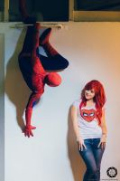 Spiderman and Mary Jane by Lily-on-the-moon