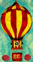traditional balloon tattoo design by loop1974