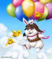 Flying rabbit by LiaSelina