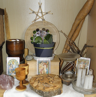 Home altar (spring style) 1. by LoveLiveLilith
