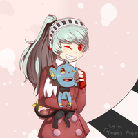 Labrys and Shinx by toasterwitch