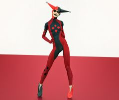 Harley Quinn 2nd skin textures for V4 by hiram67