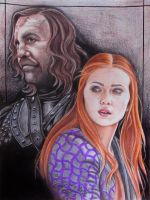 Sandor and Sansa by CHANACHO