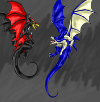 B-Day-Sonic Dragons by Scatha-the-Worm