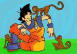 Goku + Monkeys by VexNet