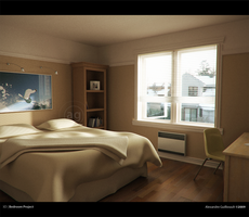 3D - Bedroom Project by AlexandreGuilbeault