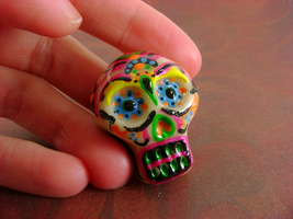 Day Of The Dead Focal Bead by monsterkookies
