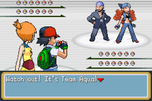Ash and Misty vs Team Aqua by BeeWinter55