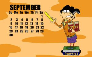 Ed, Edd n Eddy Calendar - September :need to redo: by vaness96
