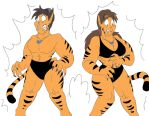 Tigra Shinji and Hikari (Colored) by CatsTuxedo