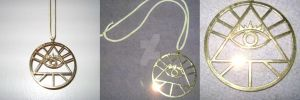 Bill Cipher necklace by GravityFalls1Fan