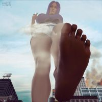 Attack Of The 50 Ft. Foot | Mega Giantess by GTSX3D