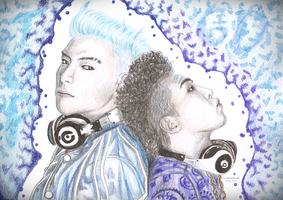 TOP and GD by Liraelwolf