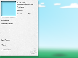 Chatsford High Application by Miss-Boxie
