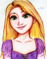 Rapunzel ( Disney Tangled ) by GuillermoAntil
