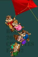 chipmunk and chipettes flying by johnnychipmunks2