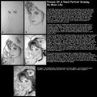 Process of a Pencil Portrait by Moon-Lilly