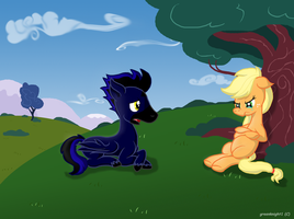 Conversation On A Hill by mechafone