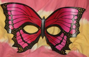 Vivid Pink Butterfly Mask by Lady-Cass
