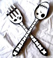 Death Fork and Spoon by Grrena