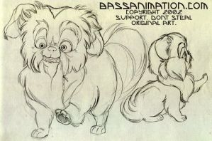 Wonton, the twitchy Peke by bassanimation
