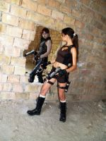 Lara Croft and Doppelganger - mirror by TanyaCroft