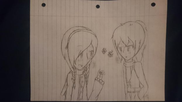 (D.GrayMan CanonXOC) Two Snowflakes by Huffie-Artist
