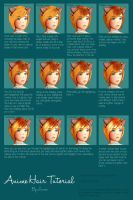 Coloring Anime Hair - A Sai Tutorial by Elerya