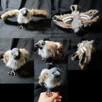 Sparrow Plush Sculpture by AnimalArtKingdom