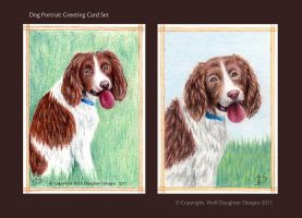 Dog Portrait Greeting Card Set by Wolf-Daughter