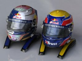 Red Bull Racing Helmets 2009 by P3P70