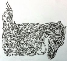 Celtic War Horse by Tattoo-Design